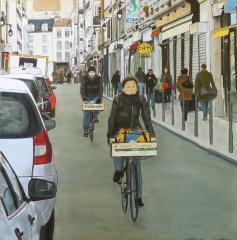 PARIS rue d'Aligre 70x70 cm