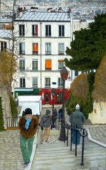 PARIS MONTMARTRE 100x61 cm