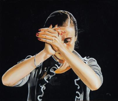 "Anaïs Bayle. ""La Muñeca"" pastel sec 60x70 cm"