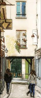 Paris -Faubourg Saint-Antoine 70x35 cm